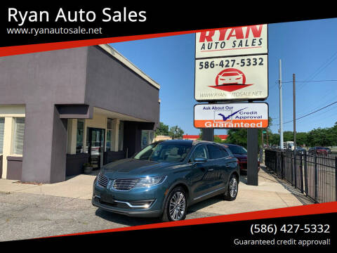 2016 Lincoln MKX for sale at Ryan Auto Sales in Warren MI