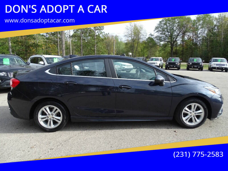 2016 Chevrolet Cruze for sale at DON'S ADOPT A CAR in Cadillac MI