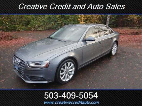 2013 Audi A4 for sale at Creative Credit & Auto Sales in Salem OR