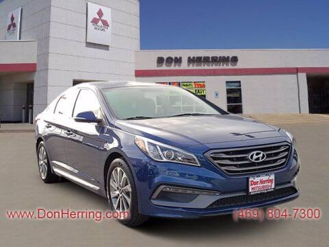 2017 Hyundai Sonata for sale at DON HERRING MITSUBISHI in Irving TX