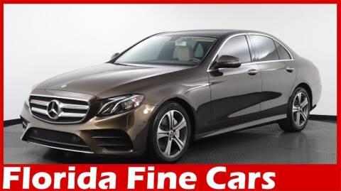 2017 Mercedes-Benz E-Class for sale at Florida Fine Cars - West Palm Beach in West Palm Beach FL