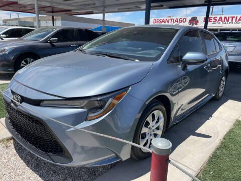 2020 Toyota Corolla for sale at DESANTIAGO AUTO SALES in Yuma AZ