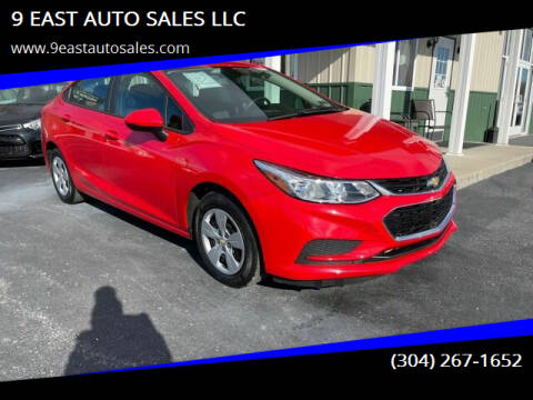 2018 Chevrolet Cruze for sale at 9 EAST AUTO SALES LLC in Martinsburg WV