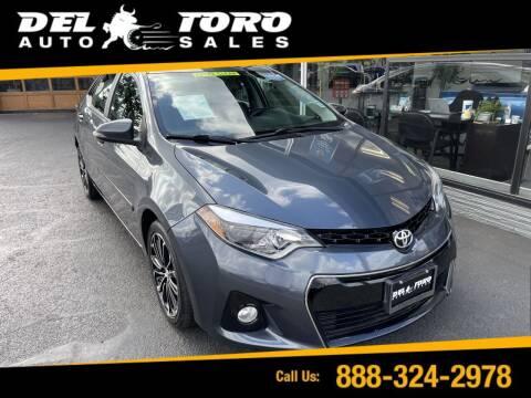 2015 Toyota Corolla for sale at DEL TORO AUTO SALES in Auburn WA