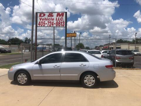 2004 Honda Accord for sale at D & M Vehicle LLC in Oklahoma City OK