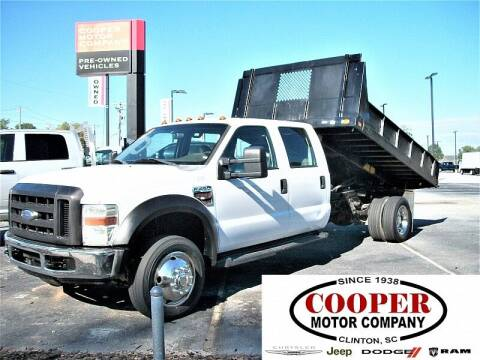 2008 Ford F-450 Super Duty for sale at Cooper Motor Company in Clinton SC