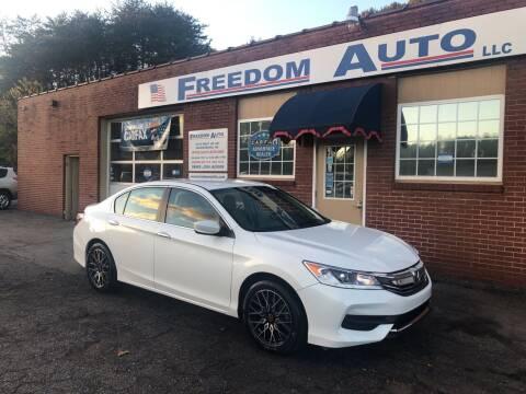2017 Honda Accord for sale at FREEDOM AUTO LLC in Wilkesboro NC