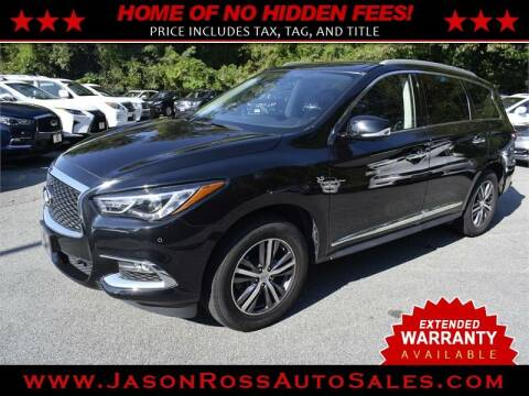 2017 Infiniti QX60 for sale at Jason Ross Auto Sales in Burlington NC