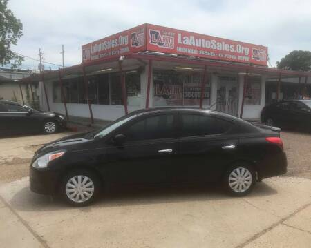 2018 Nissan Versa for sale at LA Auto Sales in Monroe LA