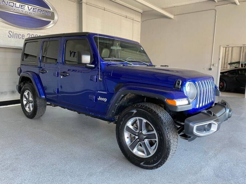 2018 Jeep Wrangler Unlimited for sale at TANQUE VERDE MOTORS in Tucson AZ
