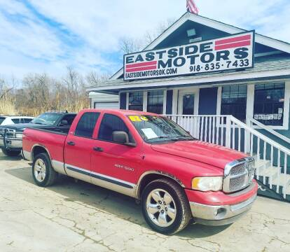 2002 Dodge Ram Pickup 1500 for sale at EASTSIDE MOTORS in Tulsa OK