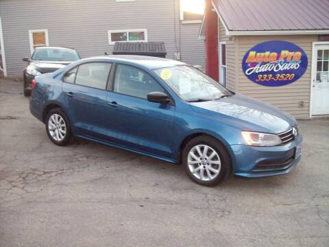 2015 Volkswagen Jetta for sale at Auto Pro Auto Sales-797 Sabattus St. in Lewiston ME