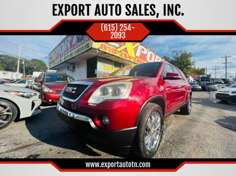 2010 GMC Acadia for sale at EXPORT AUTO SALES, INC. in Nashville TN