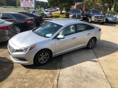 2015 Hyundai Sonata for sale at Moore's Motors in Durham NC