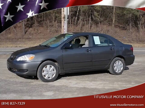 2008 Toyota Corolla for sale at Titusville Motor Company in Titusville PA
