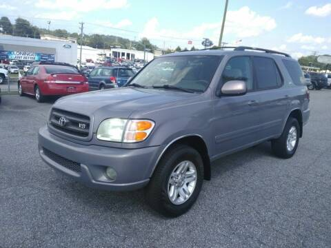 2002 Toyota Sequoia for sale at Hillside Motors Inc. in Hickory NC