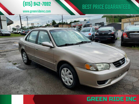 2001 Toyota Corolla for sale at Green Ride Inc in Nashville TN