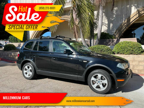 2007 BMW X3 for sale at MILLENNIUM CARS in San Diego CA