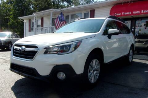 2018 Subaru Outback for sale at Dave Franek Automotive in Wantage NJ