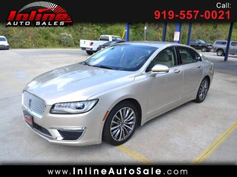 2017 Lincoln MKZ Hybrid for sale at Inline Auto Sales in Fuquay Varina NC