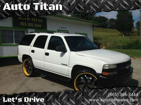 2000 Chevrolet Tahoe for sale at Auto Titan in Knoxville TN