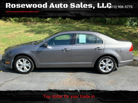 2012 Ford Fusion for sale at Rosewood Auto Sales, LLC in Hamilton OH
