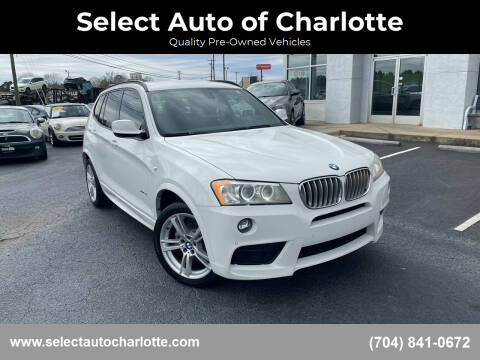 2014 BMW X3 for sale at Select Auto of Charlotte in Matthews NC