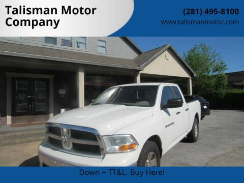 2012 RAM Ram Pickup 1500 for sale at Talisman Motor Company in Houston TX