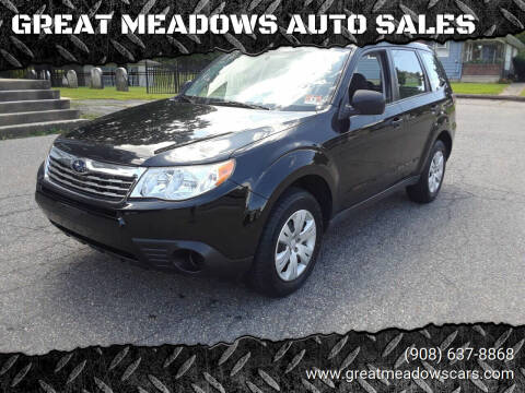 2009 Subaru Forester for sale at GREAT MEADOWS AUTO SALES in Great Meadows NJ