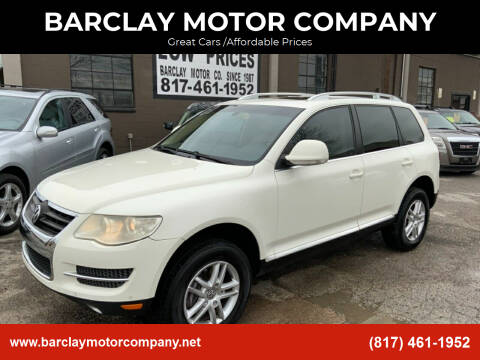 2010 Volkswagen Touareg for sale at BARCLAY MOTOR COMPANY in Arlington TX