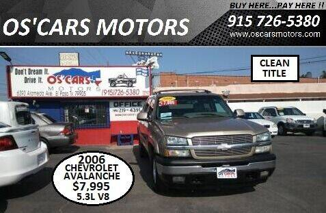 2006 Chevrolet Avalanche for sale at Os'Cars Motors in El Paso TX
