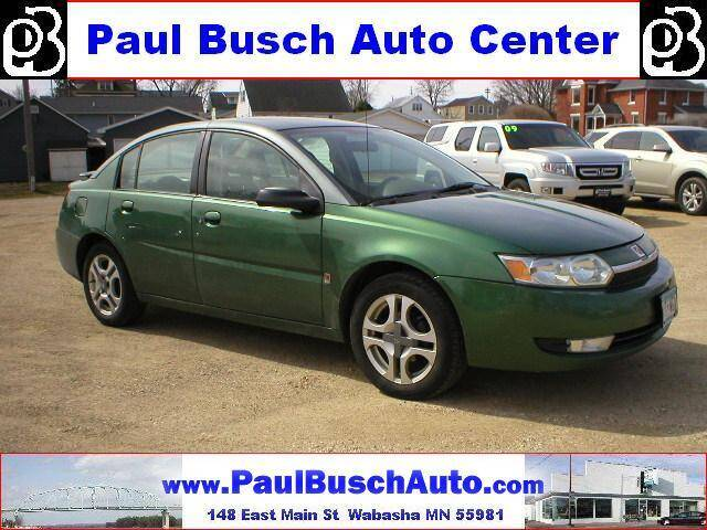 2003 Saturn Ion for sale at Paul Busch Auto Center Inc in Wabasha MN
