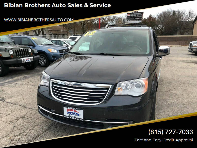 2012 Chrysler Town and Country for sale at Bibian Brothers Auto Sales & Service in Joliet IL