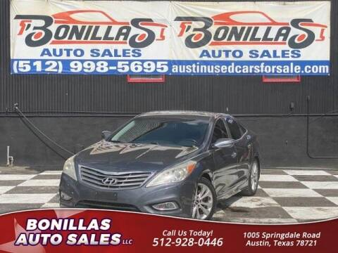 2013 Hyundai Azera for sale at Bonillas Auto Sales in Austin TX