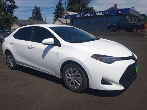 2018 Toyota Corolla for sale at All American Motors in Tacoma WA
