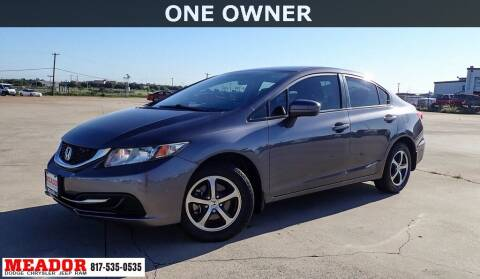 2015 Honda Civic for sale at Meador Dodge Chrysler Jeep RAM in Fort Worth TX