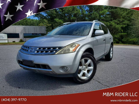 2006 Nissan Murano for sale at MBM Rider LLC in Alpharetta GA