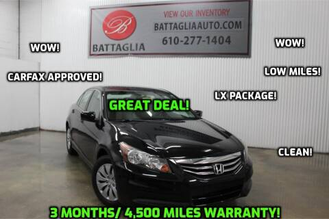2011 Honda Accord for sale at Battaglia Auto Sales in Plymouth Meeting PA