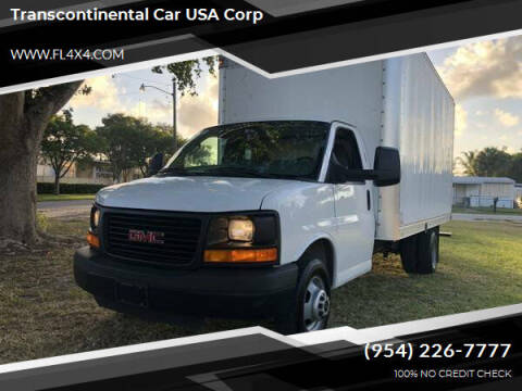 2014 GMC Savana Cutaway for sale at Transcontinental Car USA Corp in Fort Lauderdale FL