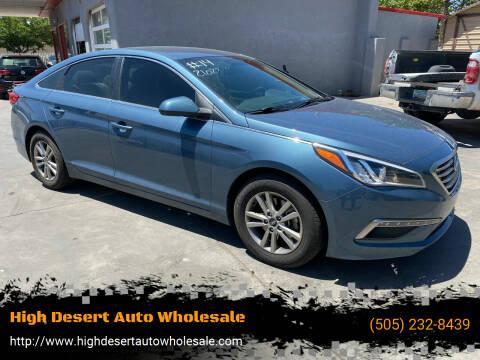 2015 Hyundai Sonata for sale at High Desert Auto Wholesale in Albuquerque NM