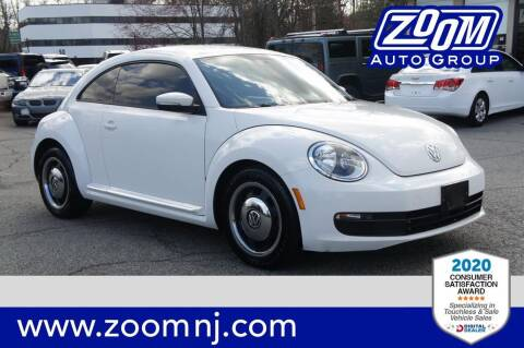 2012 Volkswagen Beetle for sale at Zoom Auto Group in Parsippany NJ