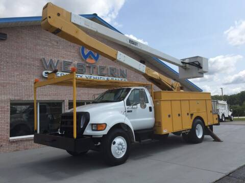 2007 Ford F750 Bucket Truck for sale at Western Specialty Vehicle Sales in Braidwood IL