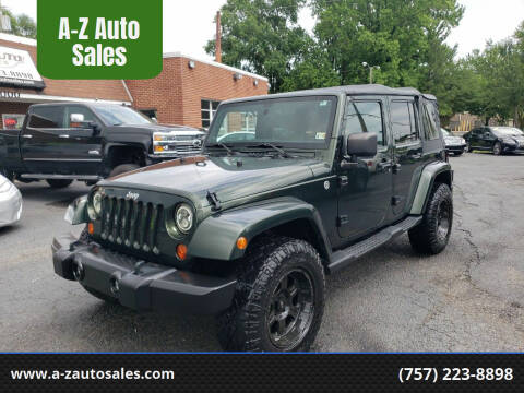 2011 Jeep Wrangler Unlimited for sale at A-Z Auto Sales in Newport News VA