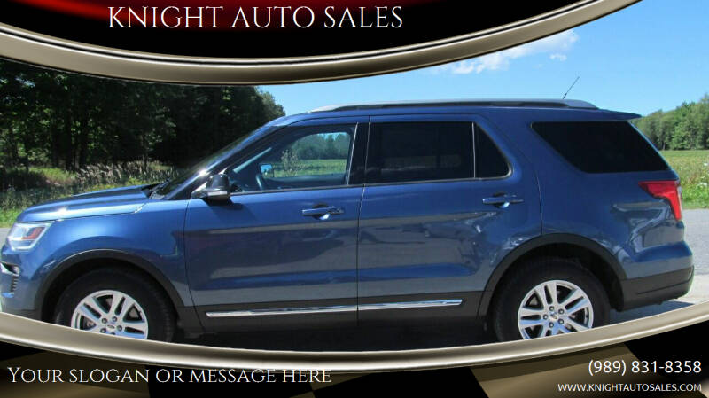 2018 Ford Explorer for sale at KNIGHT AUTO SALES in Stanton MI