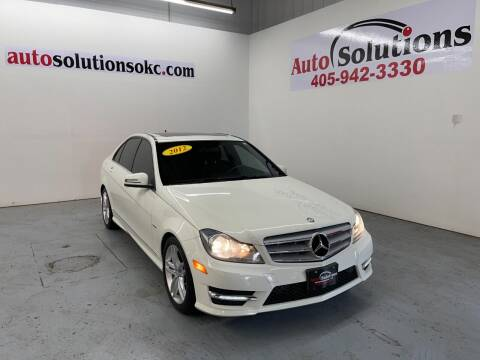 2012 Mercedes-Benz C-Class for sale at Auto Solutions in Warr Acres OK