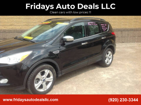 2014 Ford Escape for sale at Fridays Auto Deals LLC in Oshkosh WI