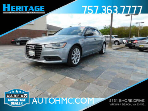 2013 Audi A6 for sale at Heritage Motor Company in Virginia Beach VA