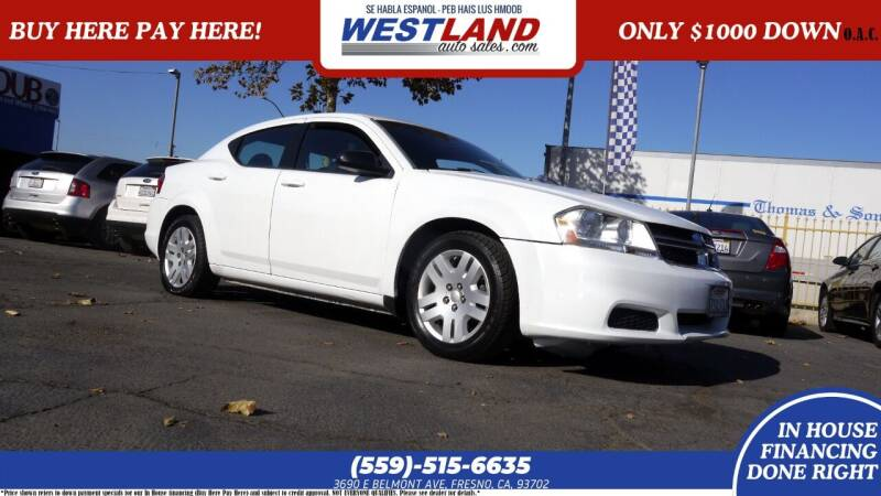 2014 Dodge Avenger for sale at Westland Auto Sales on 7th in Fresno CA