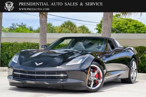 2014 Chevrolet Corvette for sale at Presidential Auto  Sales & Service in Delray Beach FL