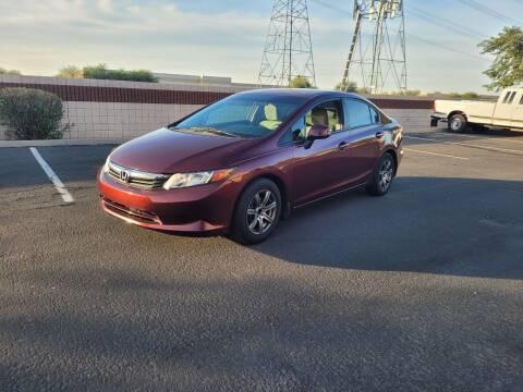 2012 Honda Civic for sale at Sooner Automotive Sales & Service LLC in Peoria AZ